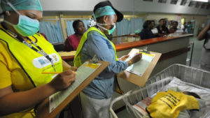 Census enumerators record the birth of a baby at the Chris Hani Baragwanath Hospital in Soweto in 2011. Photo: AFP/ALEXANDER JOE