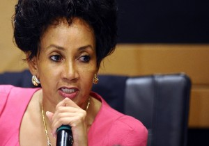 A file photo of South Africa's new Minister of Human Settlements, Lindiwe Sisulu. Photo: AFP