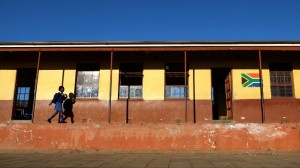 A girl walks to her classroom at a school in Qunu in the Eastern Cape in this file photograph. Photo: AFP/Jennifer Bruce