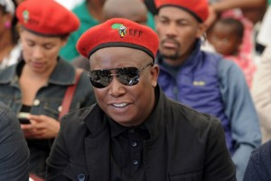 """Julius Malema, the """"commander-in-chief"""" of South Africa's Economic Freedom Fighters, says he can prove the party has 400,000 members. Photo: AFP/Stephane de Sakutin"""