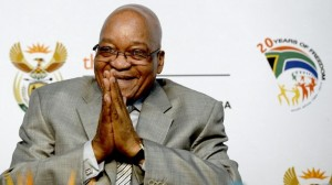 A file photo taken on October 3, 2013 shows South Africa President Jacob Zuma gesturing during the opening ceremony of the first national Broad-Based Black Economic Empowerment (B-BBEE) summit in Midrand. Photo: AFP/Stephane de Sakutin