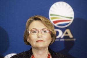 Leader of South Africa's opposition Democratic Alliance political party Helen ZIlle addresses a press conference in Johannesburg on February 3, 2014. Photo: AFP/Marco Longari