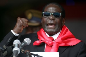 Zimbabwe's president Robert Mugabe speaks during celebrations marking his 90th birthday on February 23, 2014. Photo: AFP/Jekesai Njikizana