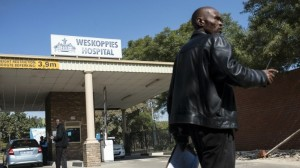 Security personnel stand outside Weskoppies Psychiatric Hospital on May 20, 2014 in Pretoria. Photo: AFP/Mujahid Safodien