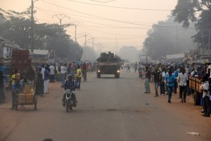 French soldiers patrol the streets of the Central African Republic's capital Bangui. Photo: AFP/Pacome Pabandji