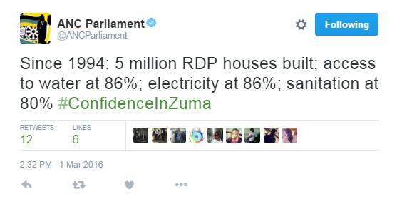 ANC 5 million houses