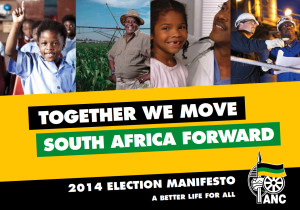 The cover of the ANC's 2014 election manifesto