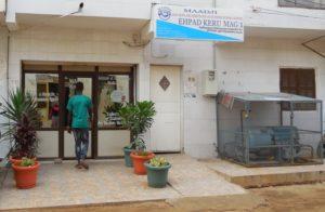 Maadji Këru Mag, seul établissement privé spécialisé dans les soins palliatifs à Dakar. (Photo : Coumba Sylla)
