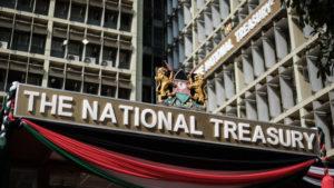 Kenya's national treasury building is pictured in Nairobi in June 2018. Photo: AFP