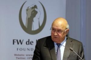 Frederik de Klerk, ancien président de l'Afrique du Sud.