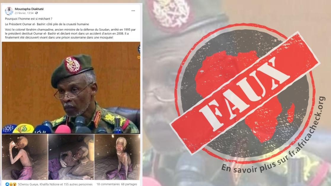 Ces images ne montrent pas un colonel de l'armée soudanaise emprisonné  dans une prison souterraine