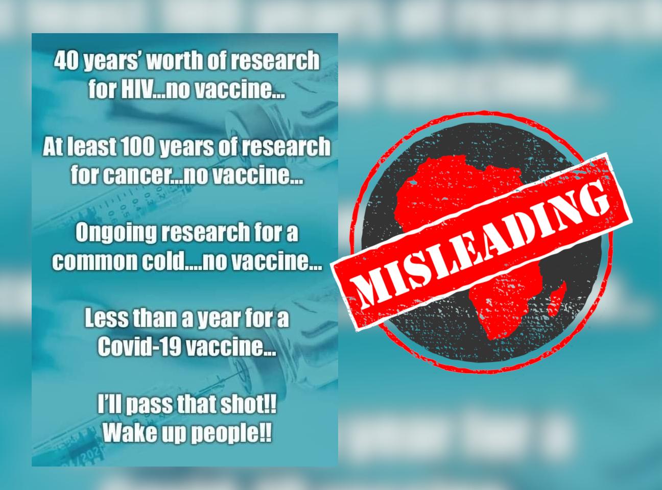 vaccine misleading