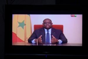 Le Président Macky Sall en train de délivrer un message radio-télévisé. Il va renouer avec cet exercice le 31 décembre 2016. Photo AFP