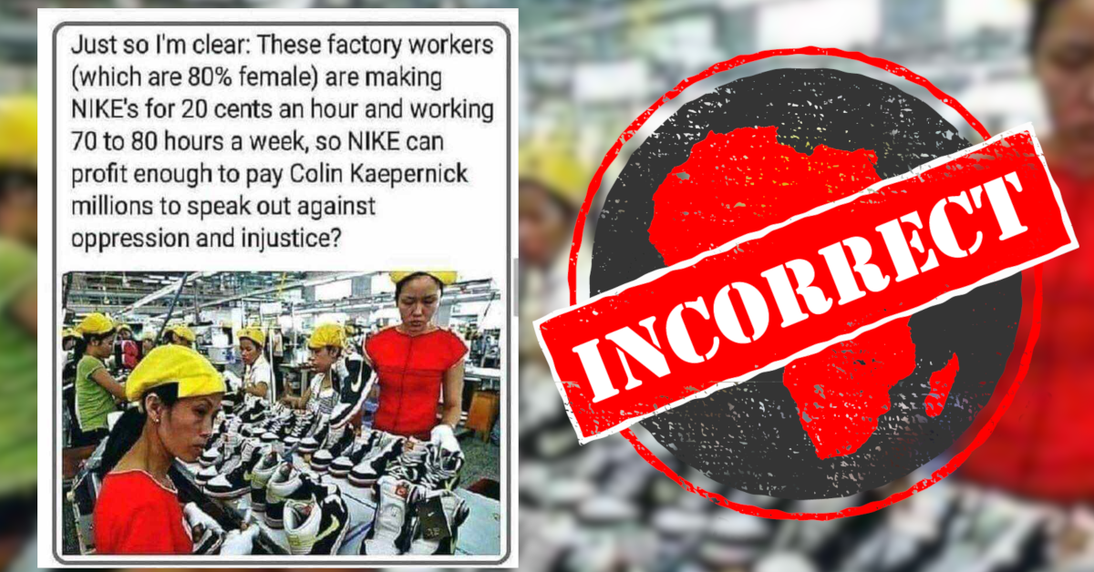 cuadrado Acuerdo cura  Nike workers don't earn 20 cents an hour or work 80 hours a week - Africa  Check