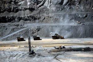 Vue de la mine de diamant de Jwaneng au Botswana en octobre 2016. Photo AFP.