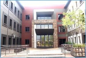 Le siège de la Commission électorale indépendante de l'Afrique du Sud. Photo IEC