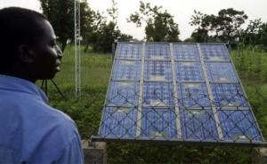 Le Sénégal mise sur le solaire pour augmenter le taux d'accès à l'électrcité. Photo AFP
