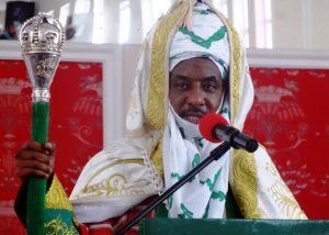 L'émir de Kano, Muhammadu Sanusi II, lors de son intronisation comme 57e émir de l'émirat de Kano en février 2015. Photo AFP.