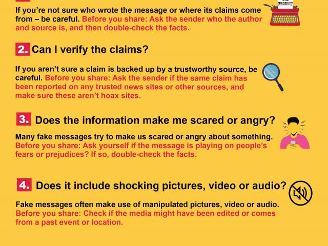TIPSHEET #1: False information on WhatsApp