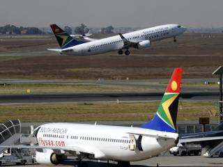 A South African Airways plane takes off in May 2010 at the O.R Tambo International airport in Johannesburg, South Africa. Photo: GIANLUIGI GUERCIA/AFP
